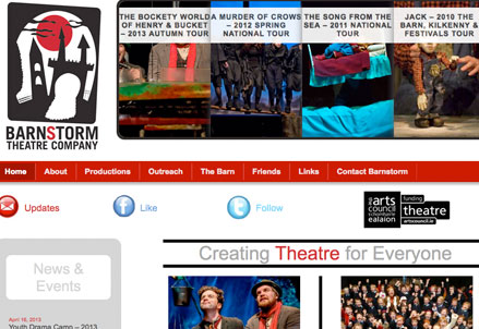 barnstorm theatre website